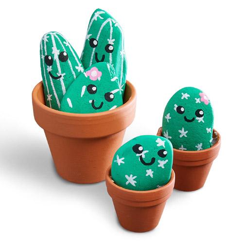 Bastelanleitung Kaktussteine