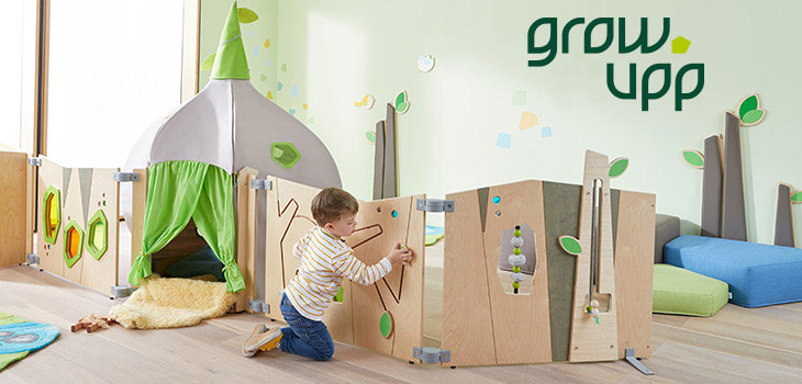 Designlinie grow.upp - Raumteiler für Krippe und Kindergarten
