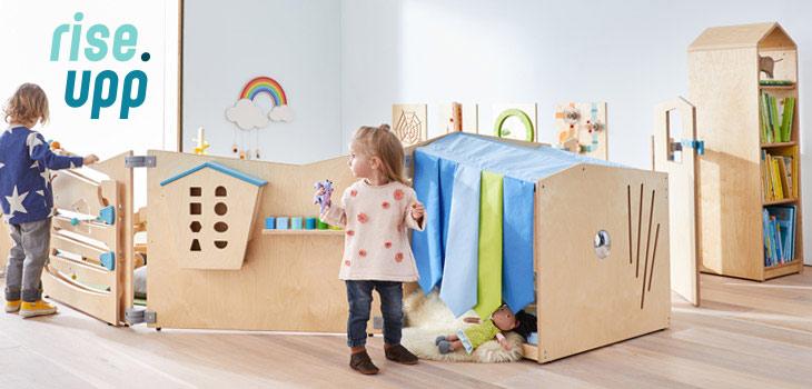 Designlinie rise.upp - Raumteiler für Krippe und Kindergarten